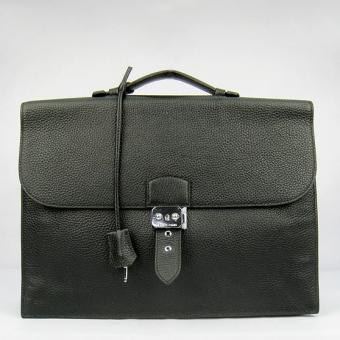 Knockoff Hermes Black Sac A Depeches 38cm Briefcase Bag