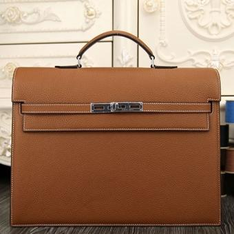 Knockoff Hermes Brown Kelly Depeche 38cm Briefcase Bag