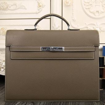 Imitation Hermes Grey Kelly Depeche 38cm Briefcase Bag