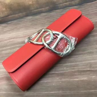 Hermes Handmade Egee Clutch In Red Swift Leather