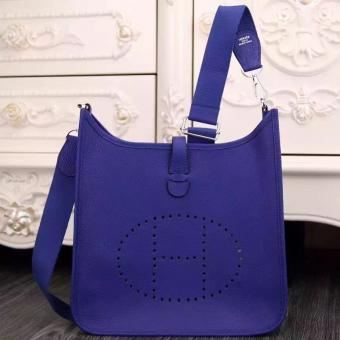 Designer Knockoff Hermes Electric Blue Evelyne III PM Bag