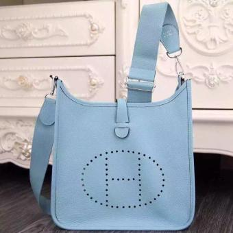 Hermes Light Blue Evelyne III PM Bag Replica