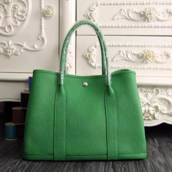 Hermes Medium Garden Party 36cm Tote In Bamboo Leather