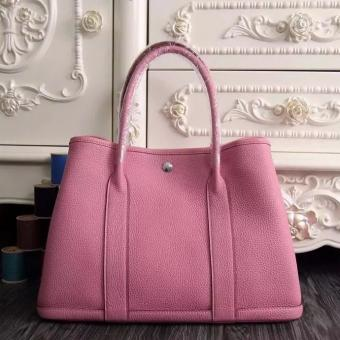 Wholesale Hermes Medium Garden Party 36cm Tote In Pink Leather