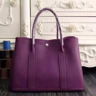 Replica Hermes Small Garden Party 30cm Tote In Purple Leather