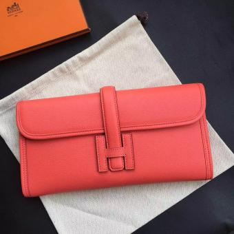 Perfect Hermes Flamingo Epsom Jige Elan 29 Clutch
