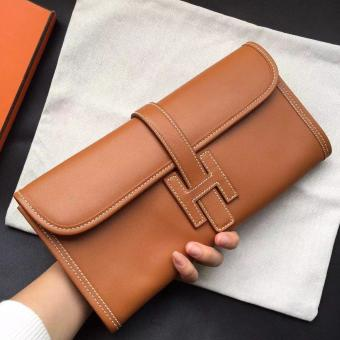 Hermes Gold Swift Jige Elan 29 Clutch