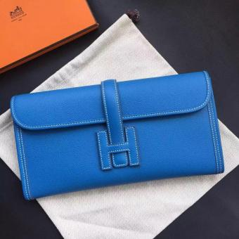 Best Fake Hermes Jige Elan 29 Clutch Bag In Blue Epsom Leather