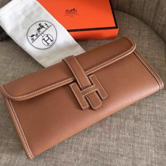 High Quality Copy Hermes Jige Elan 29 Clutch Bag In Brown Epsom Leather