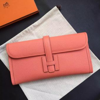 Hermes Jige Elan 29 Clutch Bag In Crevette Epsom Leather