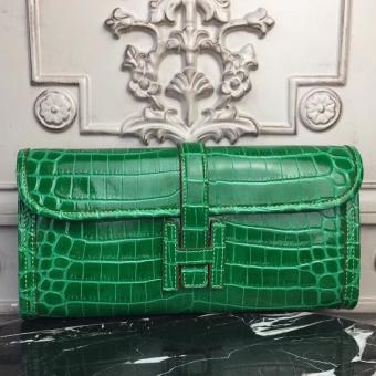 Replica Hot Hermes Jige Elan 29 Clutch In Bambou Crocodile Leather