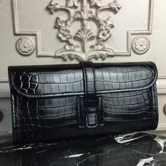 Imitation Hermes Jige Elan 29 Clutch In Black Crocodile Leather
