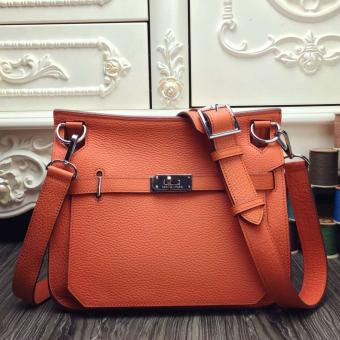Hermes Orange Large Jypsiere 34cm Bag