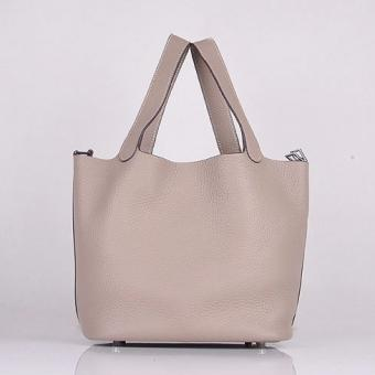 Copy Hermes Picotin Lock Bag In Grey Leather