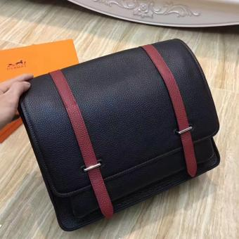 Replica Hermes Bicolor Steve 35 Messenger Black Bag