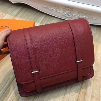 Hermes Ruby Steve 35 Messenger Bag
