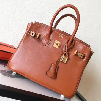 Hermes Gold Swift Birkin 25cm Handmade Bag Replica