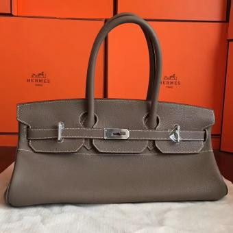 Imitation Luxury Hermes Grey JPG Shoulder Birkin 42cm Bag