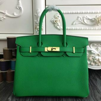 Replica Hermes Birkin 30cm 35cm Bag In Bamboo Clemence Leather