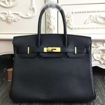 Replica Hermes Birkin 30cm 35cm Bag In Black Clemence Leather