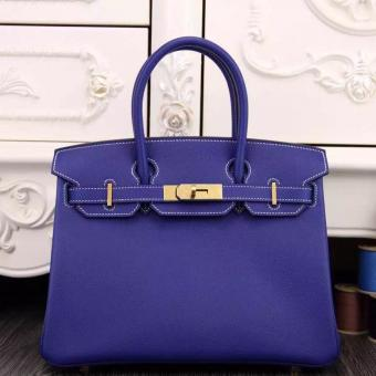 Hermes Birkin 30cm 35cm Bag In Electric Blue Epsom Leather