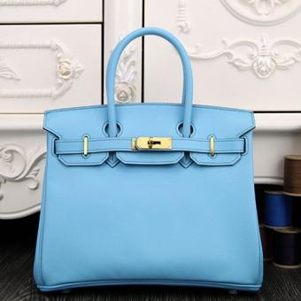 AAA Knockoff Hermes Birkin 30cm 35cm Bag In Light Blue Epsom Leather