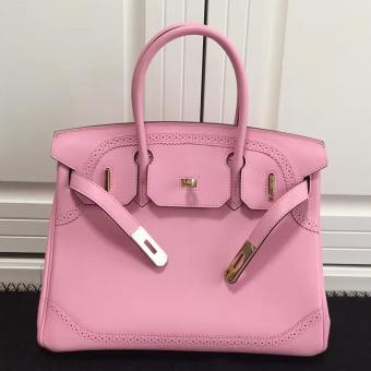 Best Quality Hermes Birkin Ghillies 30cm In Pink Swift Leather