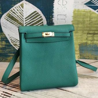 Hermes Malachite Clemence Kelly Ado PM Backpack Replica