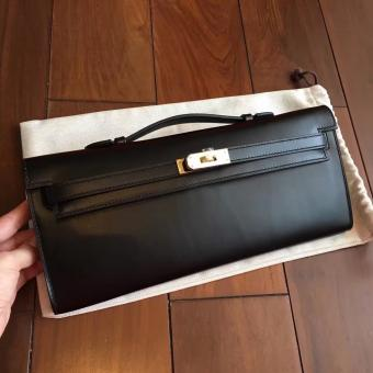 Hermes Black Box Kelly Cut Clutch Handmade Bag Replica