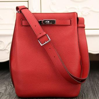 Perfect Copy Hermes So Kelly 22cm Bag In Red Leather