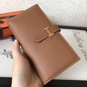 Hermes Brown Epsom Bearn Gusset Wallet