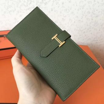 Copy Hermes Canopee Clemence Bearn Gusset Wallet