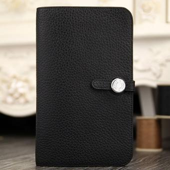 Hermes Dogon Combine Wallet In Black Leather