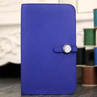 Fashion Hermes Dogon Combine Wallet In Electric Blue Leather