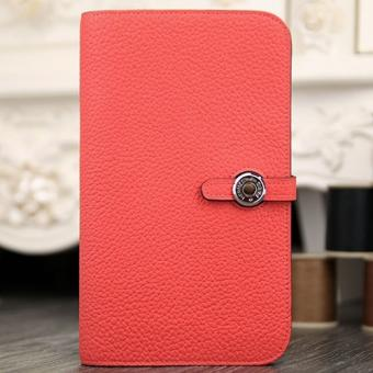 Replica Hermes Dogon Combine Wallet In Rose Lipstick Leather