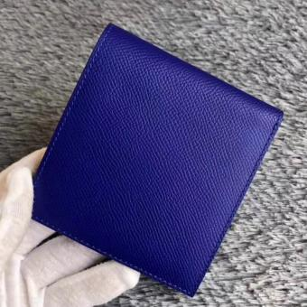 Knockoff Hermes Blue Electric MC2 Copernic Compact Wallet