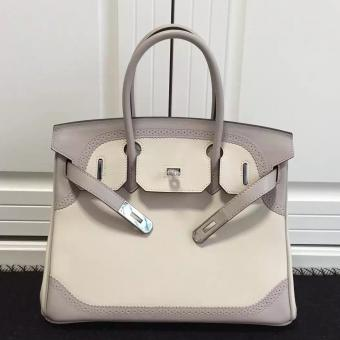 Knockoff Hermes Birkin Ghillies 30cm In Ivory Swift Leather