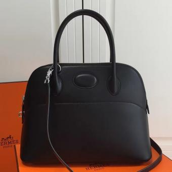 Hermes Bolide 31cm Bag In Black Swift Leather Replica