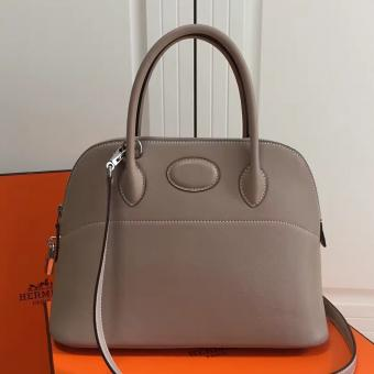 Hermes Bolide 31cm Bag In Grey Swift Leather