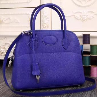 Hermes Bolide Tote Bag In Electric Blue Leather Replica