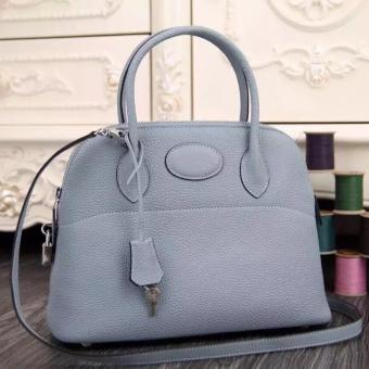 Replica 1:1 Hermes Bolide Tote Bag In Lake Blue Leather