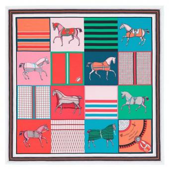 High End Hermes Green Couvertures Nouvelles Giant Scarf