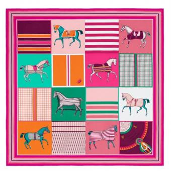Top Replica Hermes Rose Red Couvertures Nouvelles 140 Cm Scarf
