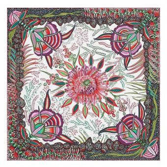 Best Cheap Hermes White Flowers Of South Africa Silk Scarf