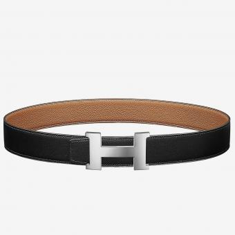 Replica 1:1 Hermes Constance Belt Buckle & Brown Clemence 38 MM Strap