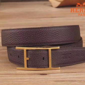 Knockoff Hermes Quentin 32 MM Chocolate Reversible Belt