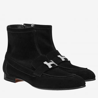 Cheap Replica Hermes Black Saint Honore Ankle Boots