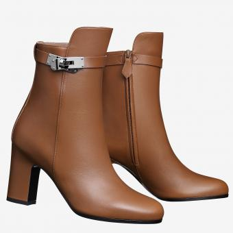 Replica Hermes Brown Joueuse Ankle Boots