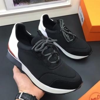 Perfect Hermes Men Noir Miles Sneakers