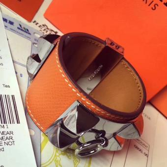 Wholesale Hermes Orange Epsom Collier De Chien Bracelet Size S